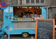 Blue foodstand called lizzy in the sky Stock Photography