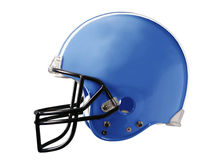 Blue Football Helmet. A blue american football helmet on a white background Royalty Free Stock Photography