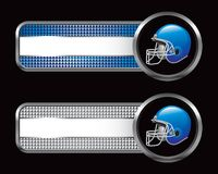 Blue football helmet on banners Royalty Free Stock Images