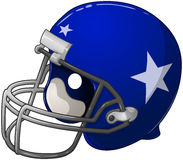 Blue Football Helmet Stock Photography