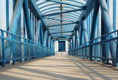 Blue footbridge Royalty Free Stock Photography