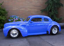 1940 blue ford. At a classic car show. Washington State Fair, Puyallup, Washington. 11 July, 2011 Stock Images