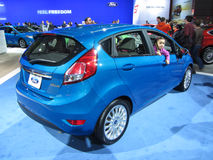 Blue Ford Fiesta Stock Image