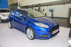 Blue ford fiesta st car. New blue ford fiesta st car in 2014 the 10th zhengzhou dahe spring international auto show.take from zhengzhou henan china Stock Photos