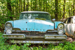 Blue Ford Lincoln. DETROIT, MICHIGAN - May 11, 2015: The Ford Motor is an American automaker headquartered in Dearborn, Michigan, a suburb of Detroit. It was Stock Photos