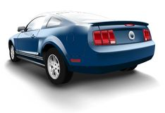 Blue Ford Mustang Stock Image