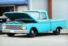 Blue Ford truck 1965 with custom cab Stock Photography