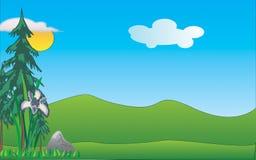 Blue Forest Landscape royalty free illustration