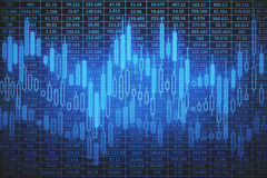 Blue forex backdrop Stock Images