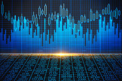 Blue forex background Royalty Free Stock Photo