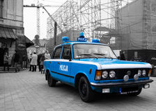 The Blue. Former car of Polish police in 80s Stock Photos