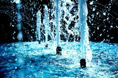 Blue Fountain Stock Image