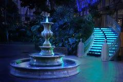 blue fountain Στοκ φωτογραφίες με δικαίωμα ελεύθερης χρήσης