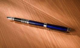 Blue fountain pen Stock Photography