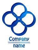 Blue four  circles 3D logo. Blue four circles 3D logo for business Stock Images