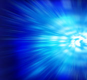 Blue Fractal. Watery Vortex Zoom Ray of Light Royalty Free Stock Photos