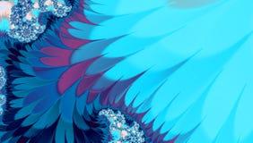 Blue frost fractal background with purple, violet, blue, teal and pink hue and stripes for banner or winter card. Blue fractal background with purple, violet Stock Image
