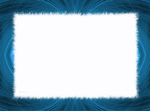 Blue Fractal Border with White Copy Space Royalty Free Stock Images