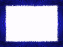 Blue Fractal Border with White Copy Space Royalty Free Stock Photo