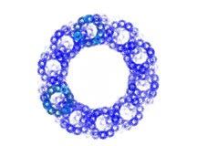 Blue fractal. Closeup view of a blue fractal Royalty Free Stock Photos