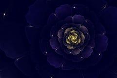 Blue fractal dahlia stock photo