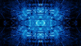 Blue Fractal Forms Royalty Free Stock Images