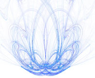 Blue Fractal Fountain. High res flame fractal forming a beautiful fountain, possible concept: purity royalty free illustration