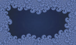 Blue Fractal Frame royalty free stock image