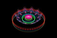 Blue fractal gas on black Royalty Free Stock Images