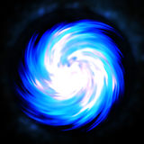 Blue Fractal Spiral Abstract Stock Image