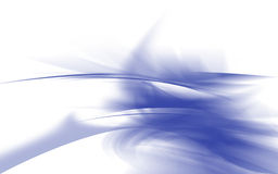 Blue fractals. On white background Royalty Free Stock Photo