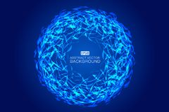 Blue fragmented rings abstract pattern Stock Photography