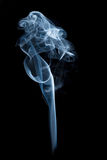 Blue Fragrance Smoke. Isolated on black background Royalty Free Stock Image