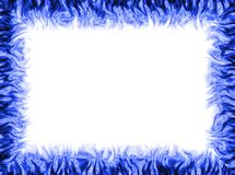 Blue frame. White background with blue frame Stock Photography