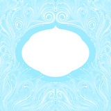 Blue frame. Beautiful abstract ornate blue frame Royalty Free Stock Images