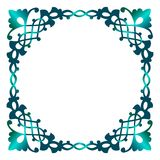 Blue frame. Traditional ornament on white Royalty Free Stock Images