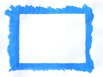 Blue frame. Painted with tempera colors vector illustration