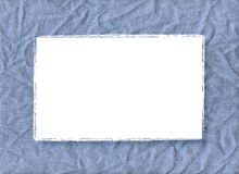 Blue frame. A blue border of burlap for your text or your images. This border is also useful for scrapbook Stock Photo