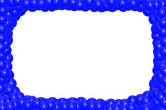 Blue frame from balls Royalty Free Stock Photo