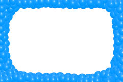 Blue frame from balls Royalty Free Stock Photos
