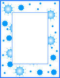 Blue frame/border. Blue frame with little stars Royalty Free Stock Image