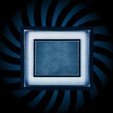 Blue frame burst Royalty Free Stock Photo