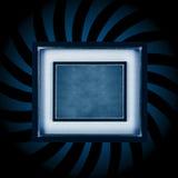Blue frame burst stock illustration