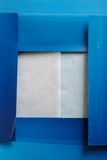 Blue frame collage background. Collage of printer blotting paper with textured papers Stock Photography