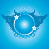 Blue frame, design element Royalty Free Stock Photo