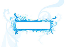 Blue frame, design element Stock Images