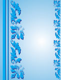 Blue frame with floral ornament Royalty Free Stock Photo