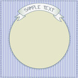 Blue frame. Funny striped frame template for kids Royalty Free Stock Photo
