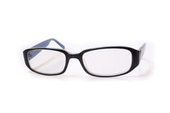 Blue frame glasses Royalty Free Stock Images