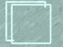 Blue frame on a gray textural background. royalty free stock image